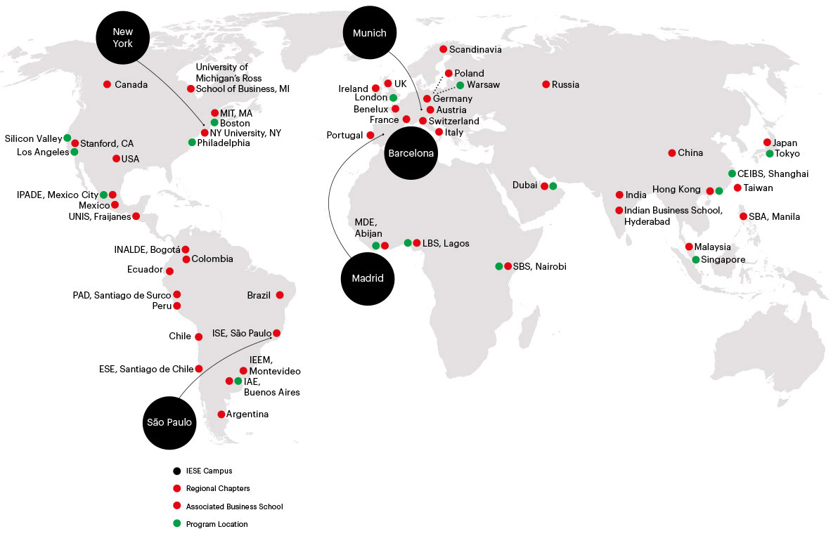 A truly global business school Map